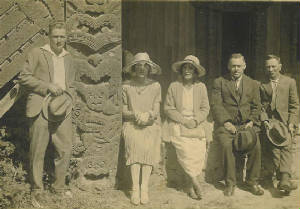 Alfred Lang with friends c1920s